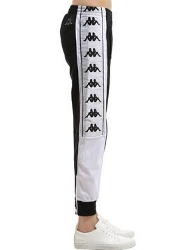 LOGO TAPE TRICOT TRACK PANTS