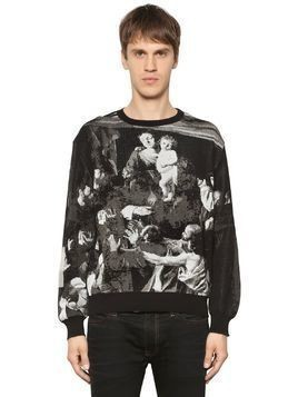 CARAVAGGIO COTTON BLEND JACQUARD SWEATER