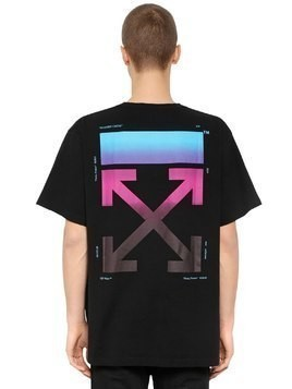OVERSIZED GRADIENT ARROWS JERSEY T-SHIRT