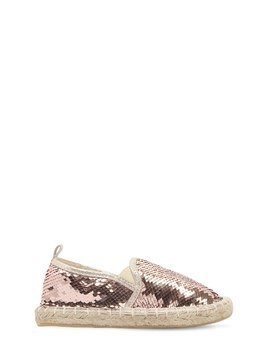 SEQUINED COTTON ESPADRILLES