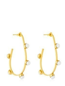 PEARLED HOOP EARRINGS