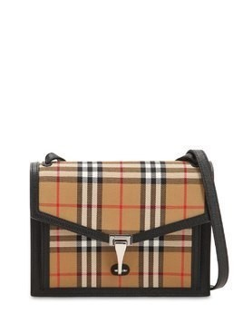 SMALL MACKEN CHECKED LEATHER BAG