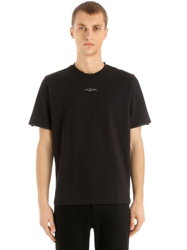 CHARLIE PATCH COTTON JERSEY T-SHIRT