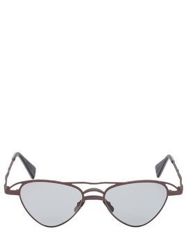 AVIATOR HAMMERED METAL SUNGLASSES