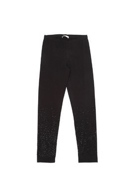 EMBELLISHED COTTON JERSEY LEGGINGS