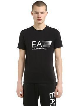 TRAINING LOGO PRINTED COTTON T-SHIRT