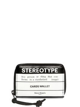 STEREOTYPE LEATHER ZIP CARD WALLET