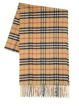 GIANT PLAID CASHMERE SCARF