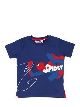 SPIDERMAN PRINT COTTON JERSEY T-SHIRT