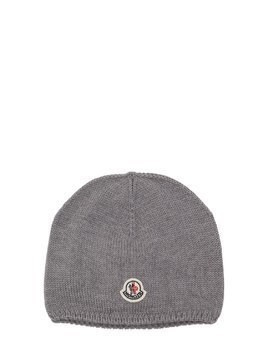 LOGO PATCH WOOL KNIT BEANIE
