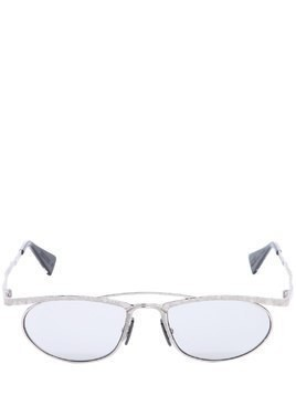 SILVER COLORED METAL SUNGLASSES