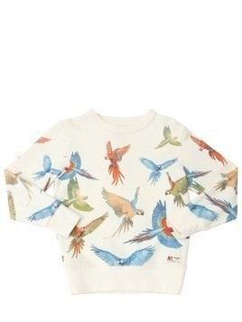 PARROT PRINT COTTON SWEATSHIRT