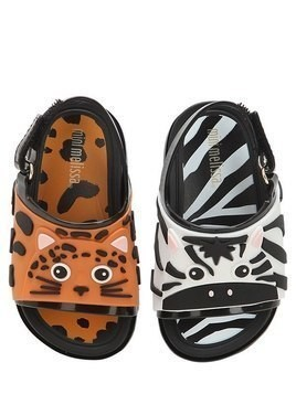 ZEBRA & TIGER RUBBER SANDALS