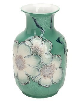 LIMITED EDITION POPPY FLOWERS TALL VASE