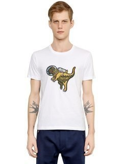 REXY EMBROIDERED PATCH JERSEY T-SHIRT