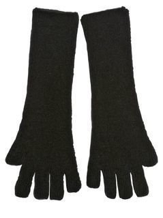 WOOL BLEND LONG FINGERLESS GLOVES