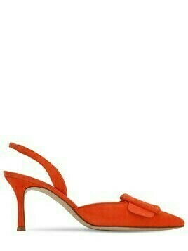 70mm Maysli Suede Slingback Pumps