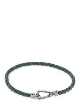 GREEN LASH BRAIDED LEATHER BRACELET