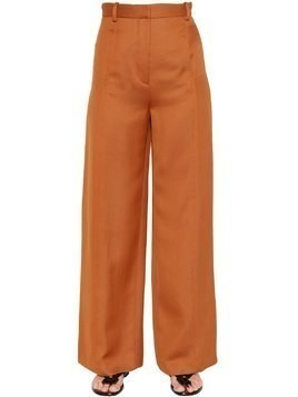 HIGH WAISTED FLUID TWILL TROUSERS