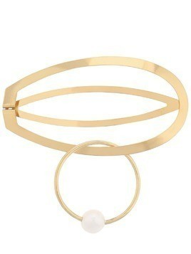 GOLD PLATED AMA HAIR CLIP W/ PEARL