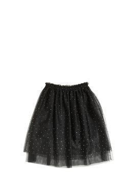 EMBELLISHED STRETCH TULLE SKIRT