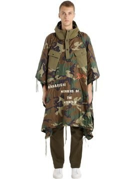 WORLD TOUR QUILTED CAMO NYLON PONCHO