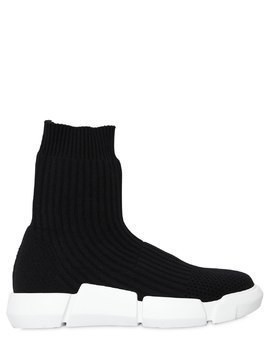 30MM RIB KNIT SOCK PULL-ON SNEAKERS