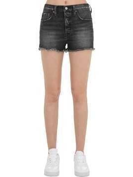 501 HIGHRISE STRETCH COTTON DENIM SHORTS