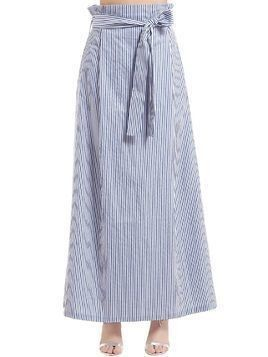 STRIPED COTTON SKIRT