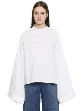 PARACHUTE WIDE SLEEVE COTTON POPLIN TOP