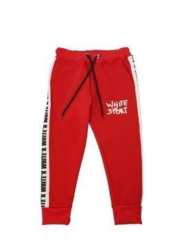 LOGO BAND TECHNO SWEATPANTS