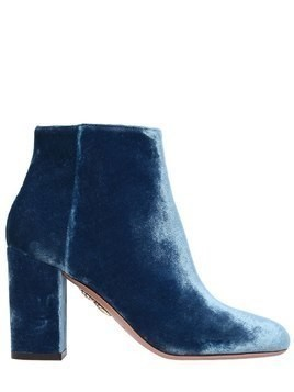 85MM BROOKLYN VELVET ANKLE BOOTS