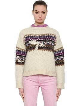 WOOL JACQUARD KNIT SWEATER
