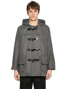 HOODED WOOL BLEND SHORT DUFFLE COAT