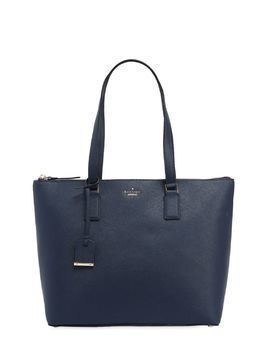 LUCIE LEATHER SAFFIANO TOTE BAG