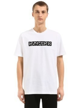 ENLIGHTENED PRINT COTTON JERSEY T-SHIRT