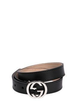 GG LEATHER BELT