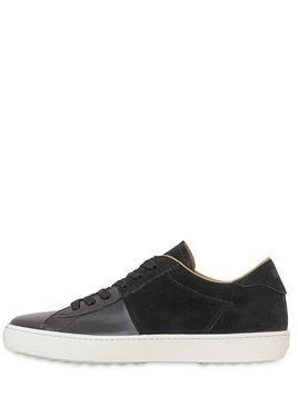 ACTIVE LEATHER&SUEDE SNEAKERS