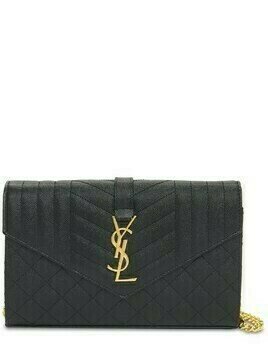 Monogram Quilted Leather Chain Wallet
