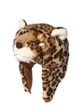 LEOPARD SHAPED PLUSH & FLEECE HAT