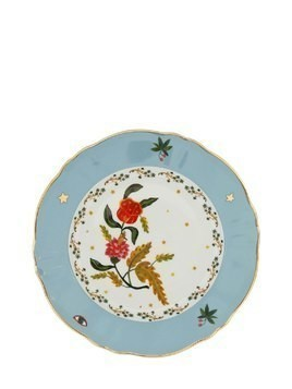 FLOWER PORCELAIN DINNER PLATE