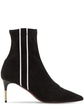 70MM STRETCH FAUX SUEDE ANKLE BOOTS