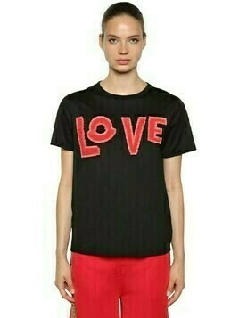 Love Cotton Jersey T-shirt W/ Patches