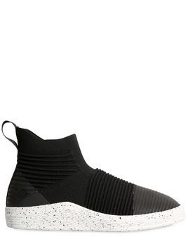 RIB & KNIT SLIP-ON MID TOP SNEAKERS