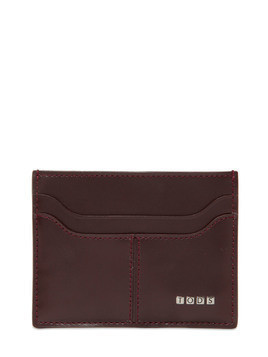 METAL LETTERS LEATHER CARD HOLDER