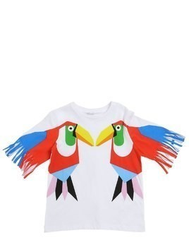 TOUCAN PRINTED COTTON JERSEY T-SHIRT