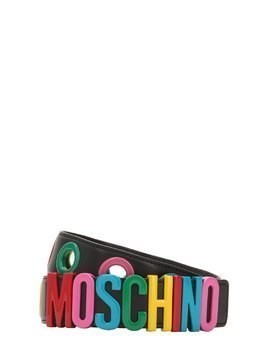 MULTICOLOR LOGO LEATHER BELT
