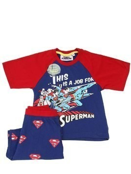 SUPERMAN PRINT COTTON T-SHIRT & SHORTS