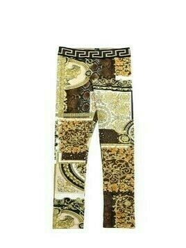 Baroque Print Cotton Jersey Leggings