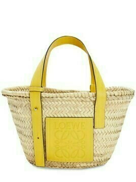 Small Woven Straw Basket Bag